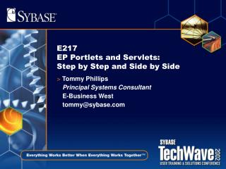 E217 EP Portlets and Servlets: Step by Step and Side by Side