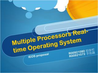 Multiple Processors Real-time Operating System