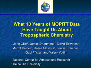 What 10 Years of MOPITT Data Have Taught Us About Tropospheric Chemistry
