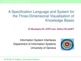 A Specification Language and System for the Three-Dimensional Visualisation of Knowledge Bases