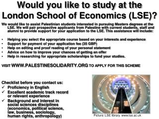 Would you like to study at the London School of Economics (LSE)?