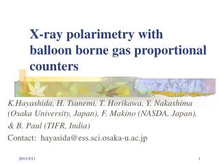 X-ray polarimetry with  balloon borne gas proportional counters