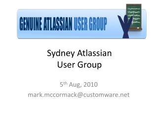 Sydney Atlassian  User Group