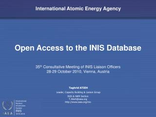 Open Access to the INIS Database