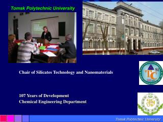 Chair of Silicates Technology and  Nanomaterials 107 Years of Development Chemical Engineering Department