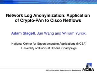 Network Log Anonymization: Application of Crypto-PAn to Cisco Netflows