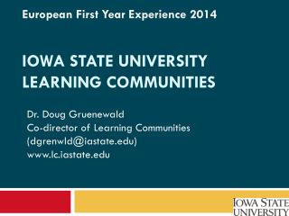 Iowa State university  learning communities