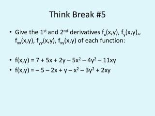 Think Break #5