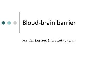 Blood-brain barrier