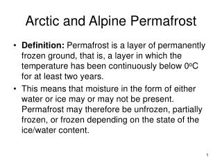 Arctic and Alpine Permafrost