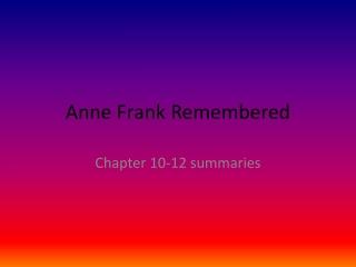 ANNE FRANK DAY