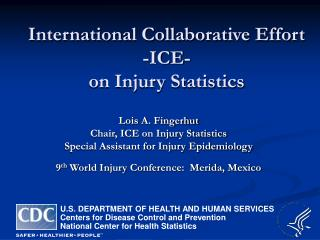International Collaborative Effort  -ICE-  on Injury Statistics