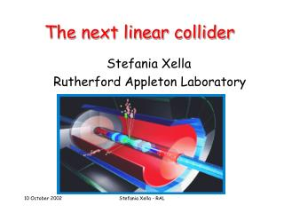 The next linear collider