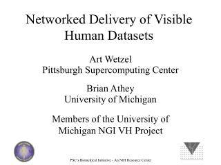 Networked Delivery of Visible Human Datasets