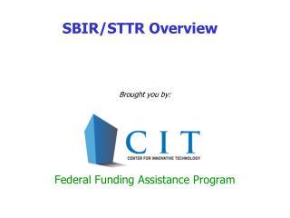 SBIR/STTR Overview
