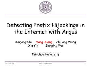 Detecting Prefix Hijackings in the Internet with Argus