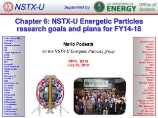 Chapter 6: NSTX-U Energetic Particles research goals and plans for FY14-18