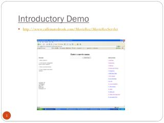 Introductory Demo
