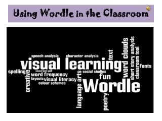 Using Wordle  in  the Classroom