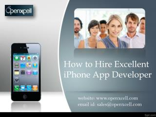 Hire Mobile Application Developer – iPhone, iPad, Android,