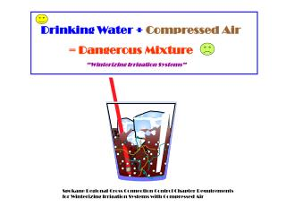 Drinking Water +  Compressed Air = Dangerous Mixture