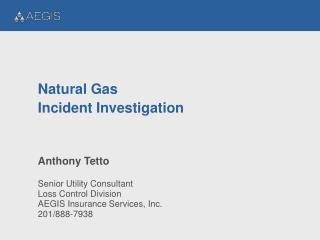 Natural Gas Incident Investigation