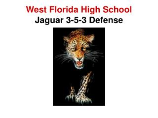West Florida High School Jaguar 3-5-3 Defense
