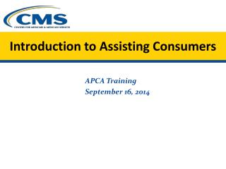 Introduction to Assisting Consumers