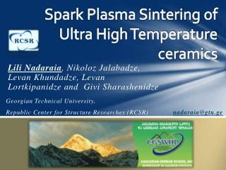 Spark  Plasma Sintering  of Ultra High Temperature ceramics
