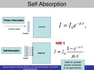 Self Absorption
