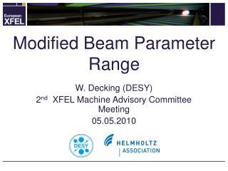 Modified Beam Parameter Range