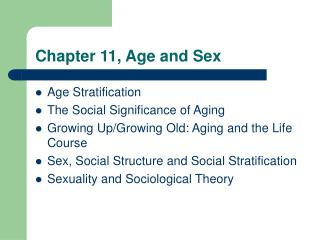 Chapter 11, Age and Sex