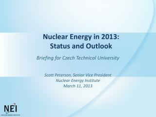 Nuclear Energy in  2013: Status and Outlook