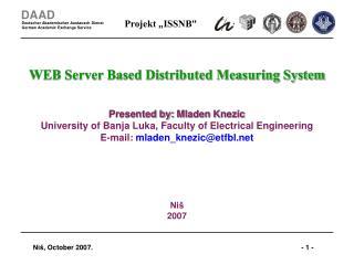WEB Server Based Distributed Measuring System