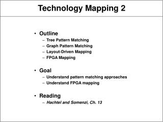 Technology Mapping 2