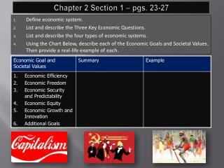 Chapter 2 Section 1 – pgs. 23-27