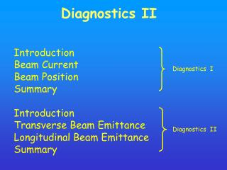Diagnostics II