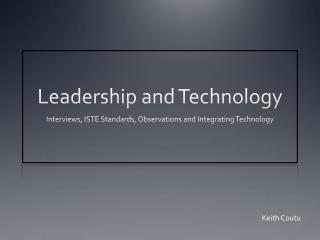 Leadership and Technology