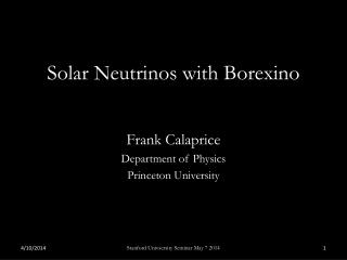 Solar  Neutrinos  with  Borexino