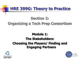 HRE 399G: Theory to Practice