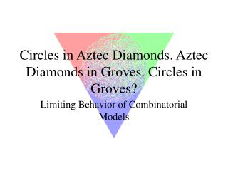 Circles in Aztec Diamonds. Aztec Diamonds in Groves. Circles in Groves?