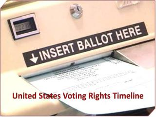 United States Voting Rights Timeline