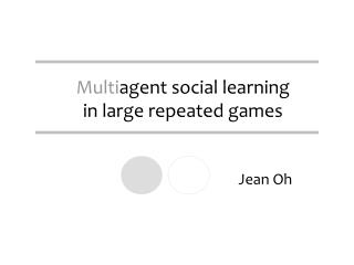 Multi agent social learning  in large repeated games