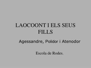 LAOCOONT I ELS SEUS FILLS