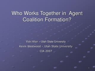 Who Works Together in  Agent Coalition Formation?