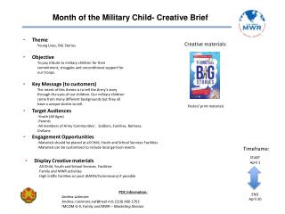 Month of the Military Child- Creative Brief