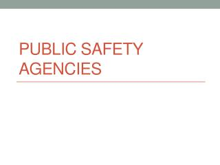 Public Safety Agencies