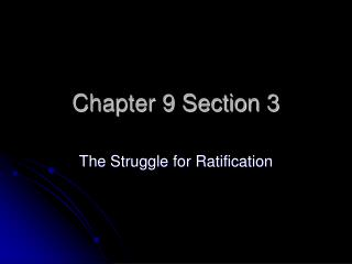 Chapter 9 Section 3