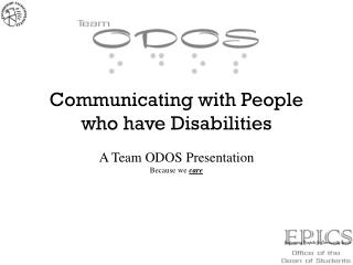 Communicating with People who have Disabilities