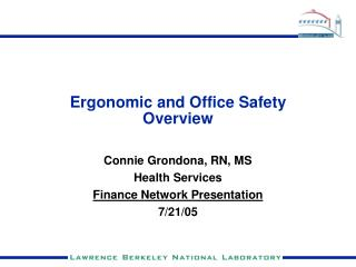 Ergonomic and Office Safety Overview